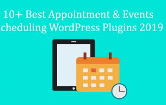10+ Best Appointment & Events Scheduling WordPress Plugins 2019