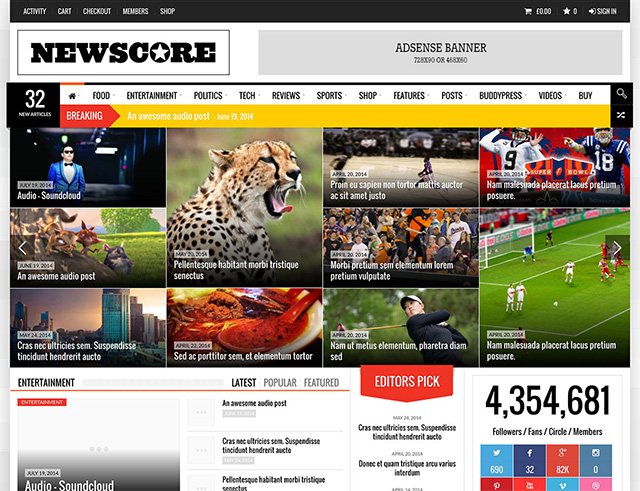 NewsCore - A Blog, Magazine and News Theme for WP