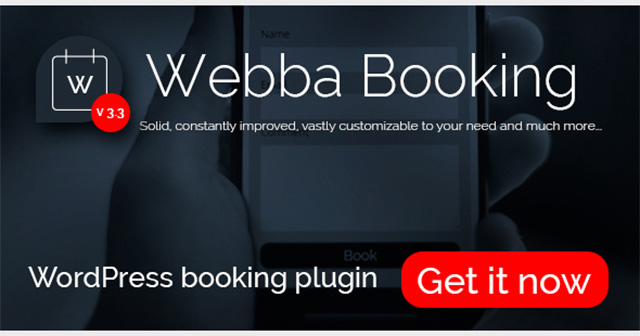 Webba Booking WordPress plugin