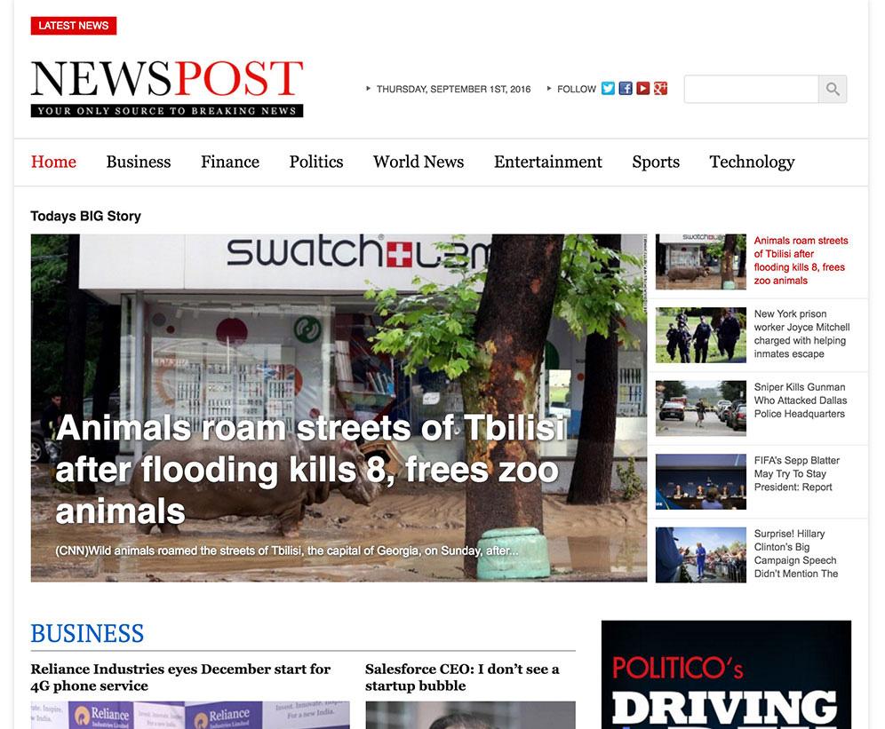 NewsPost - News Magazine WordPress Theme