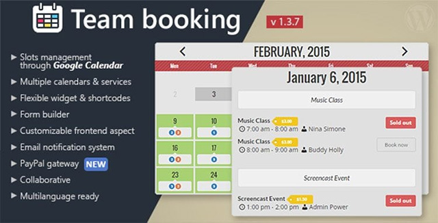 Team Booking WordPress plugin