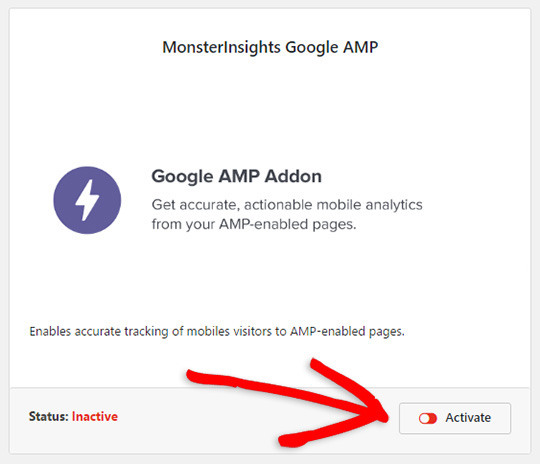 google amp add on