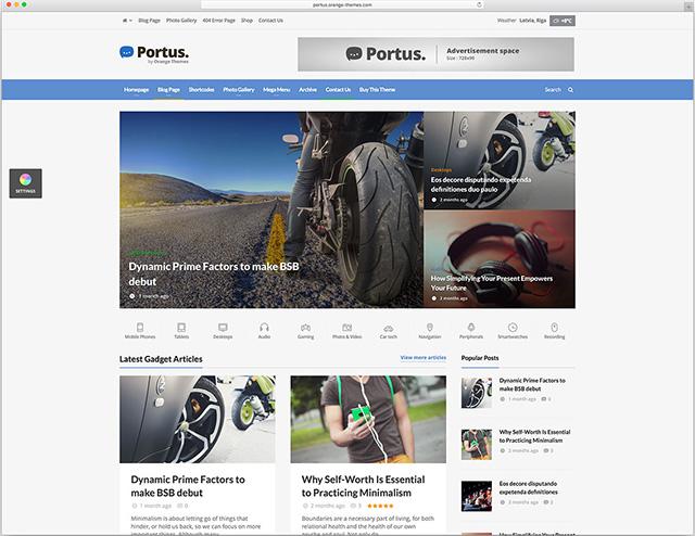 Portus - News Portal & Magazine WordPress Theme
