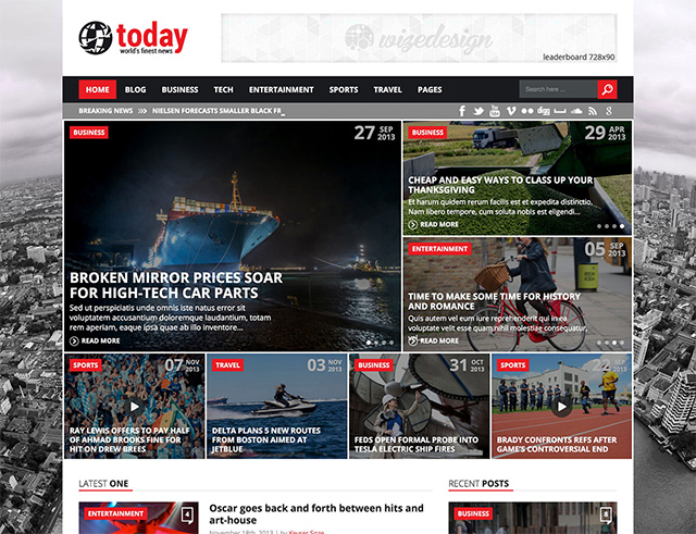 Today - News & Magazine WordPress Theme