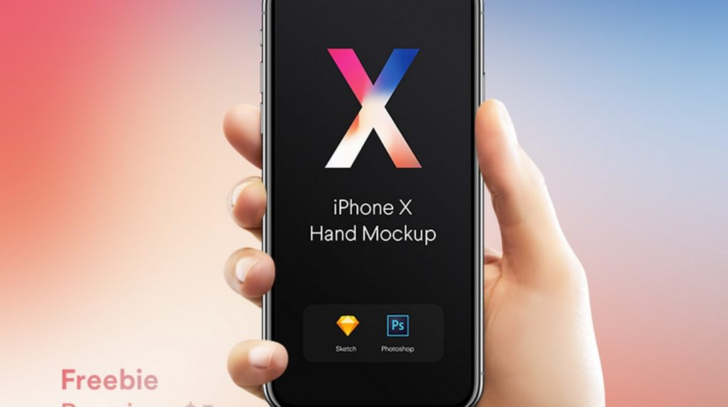 New iPhone X Mockups by Pierre Borodin