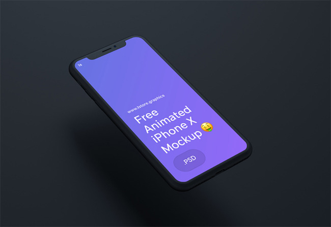 Free Animated iPhone X Mockup for Photoshop