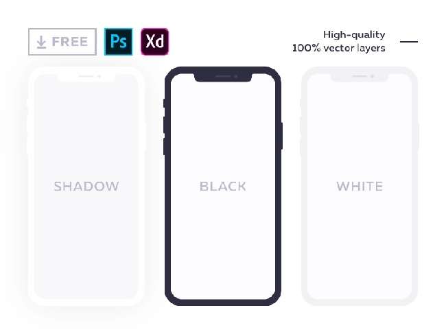 Free flat mockup for iPhone X Alexander Litvinenko