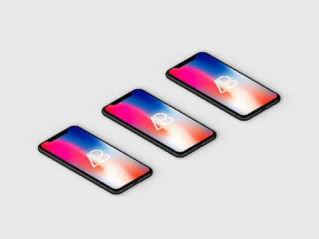 Isometric iPhone X Mockup