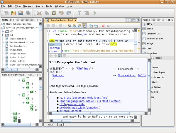 Netbeans html_editor