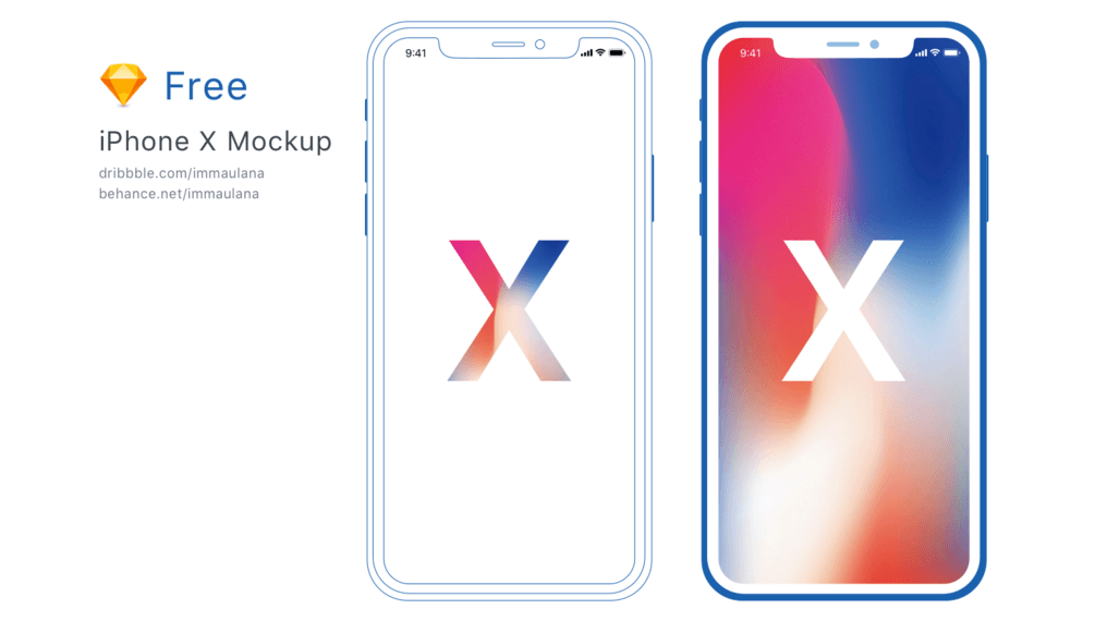 minimal iPhone X mockup by Imam Maulana